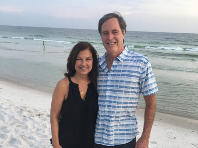 Becky and Dick at the beach