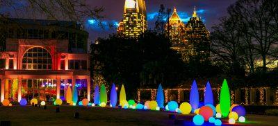 December 12, 2014 - Atlanta, Ga: Atlanta Botanical Gardens Garden Lights event Friday night in Atlanta, Ga., December 12, 2014. Photo by / JASON GETZ